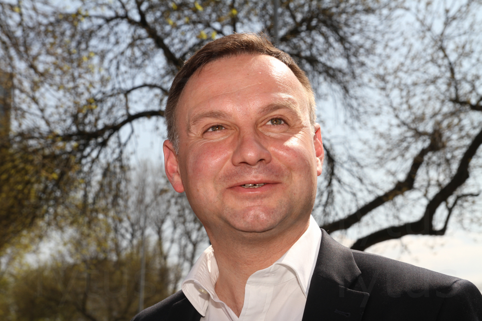 Andrzej Duda the candidate for the Presidency a year ago